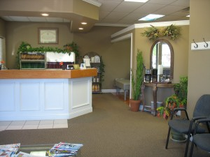 Enjoy fresh coffee and magazines in our waiting room area